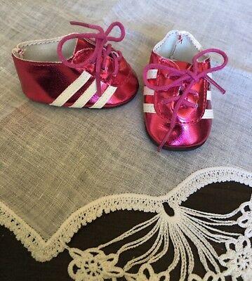 "American Girl 18"" Doll Shoes Pink & White Soccer Shoes Sophia's AG-11"