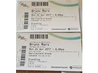Bruno Mars - 2x standing tickets £100