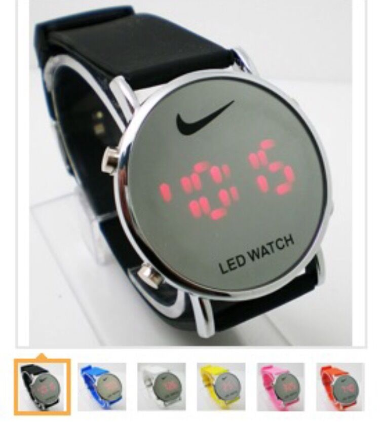 7e145af5 Nike LED Watch Round Mirror Face SILICONE BAND New W/out Tags No Box Many