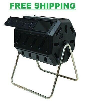 Compost Tumbler Bin Container Outdoor Garden Yard Kitchen Waste Fertilizer Mulch