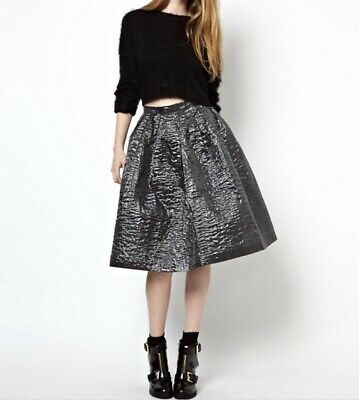 House Of Holland Grey Metallic Oilslick Balloon Skirt, Uk 8,Used Once, RRP £230