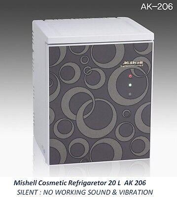 NEW Mishell Cosmetic Refrigerator 20 L AK 206 Silent Design & Smart Temp Control