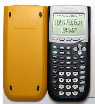 Texas Instruments TI 84 Plus Graphing Calculator Yellow Free Shipping