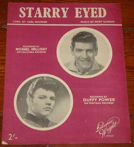 DUFFY-POWER-MICHAEL-HOLLIDAY-STARRY-EYED-ORIGINAL-UK-SONG-MUSIC-LYRIC-SHEET