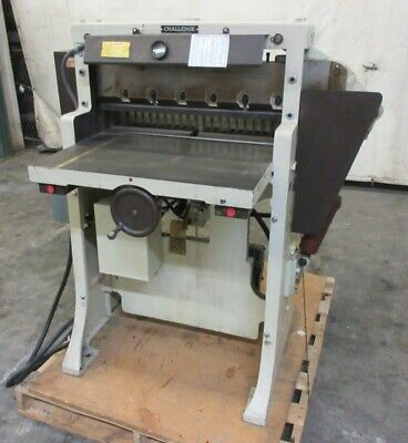 Challenge Machinery Co. 1983 Paper Cutter Size 265 26 58 Model Hbe 208v