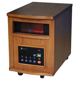 HomeGear-2000-Sq-Ft-Infrared-Electric-Portable-Heater-Remote-Control-LIGHT-OAK