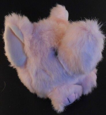 Petals the Pink Elephant Puffkins Bean Bag Plush 1999 Pink & White with Hang Tag