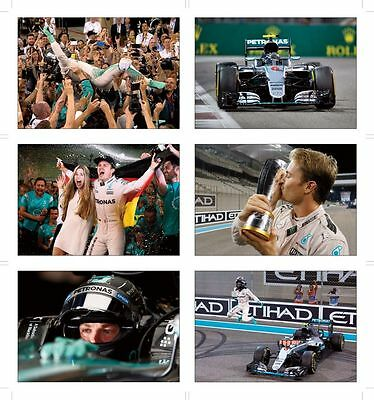 Nico Rosberg F1 World Champion Great POSTCARD Set