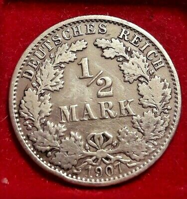 1/2 Mark, 1907, A  Berlin, TTB, Argent, KM:17 GERMANY Allemagne