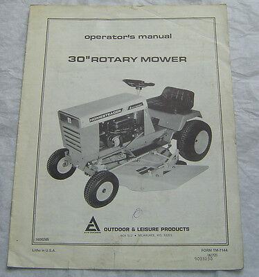 Allis Chalmers lawn & garden tractor 30