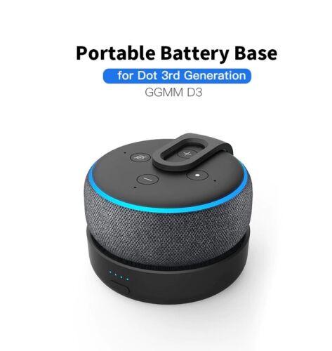 GGMM Portable Battery Base For Amazon Echo Dot 3 Gen. 5200mAh Docking Station