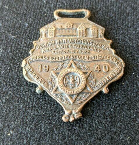 1940 JEWISH WAR VETERANS OF U.S.A. LAURELS COUNTRY CLUB MEDAL. BEN J. HARRIS CO