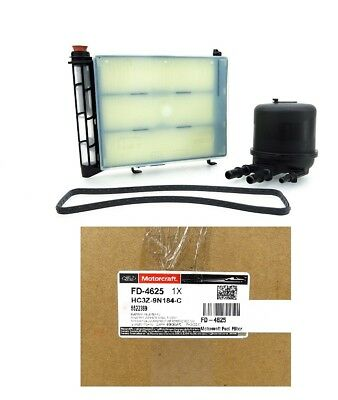 New OEM Motorcraft 2017 2018 6.7L Ford Powerstroke FD4625 Fuel/Water Filter Kit