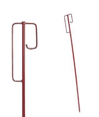 10 Stück rot Absperrleinenhalter Leinenhalter Laterneneisen Absperrhalter