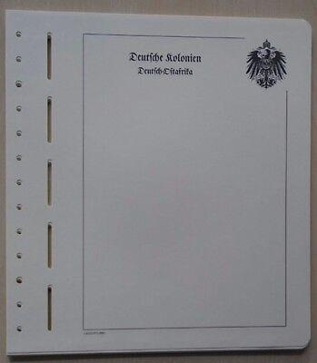 Dt. Kolonien Deutsch-Ost-Afrika, Leuchtturm-Blankoblätter mit Emblem (OVP)