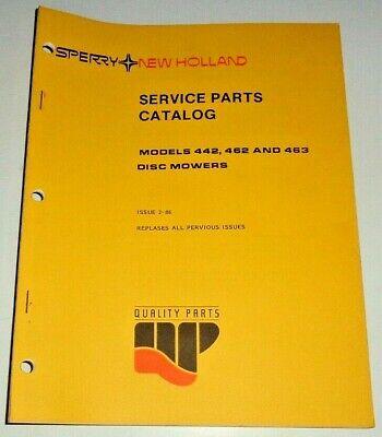 New Holland 442 462 463 Disc Mower Parts Catalog Manual Book 286 Nh Original