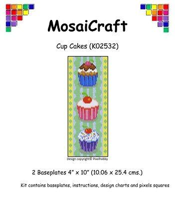Cup Craft Kit (MosaiCraft Pixel Craft Mosaic Art Kit 'Cup Cakes' Pixelhobby)