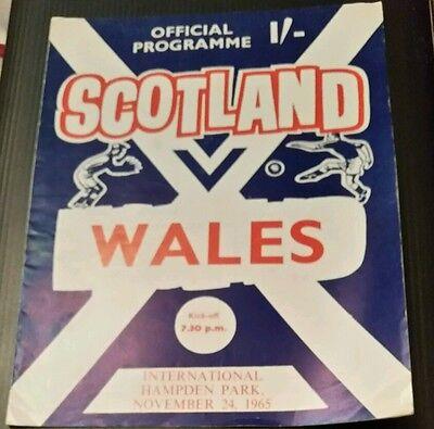 Scotland v Wales Programme 24/11/65