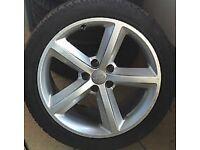 "5 spoke 18"" Audi alloy wheels with tyres"