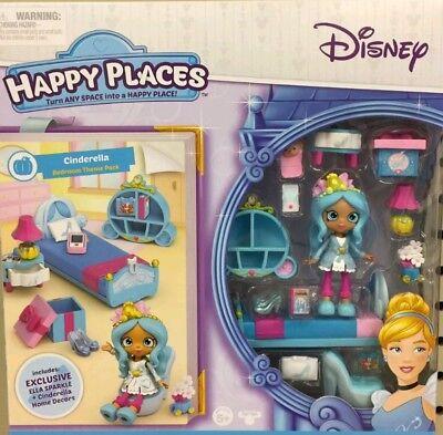 Disney Shopkins Happy Places Cinderella Bedroom Theme Pack Ella Sparkle Doll