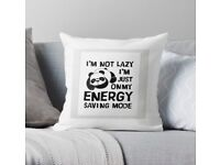 Cool 'lazy' design Throw Pillow