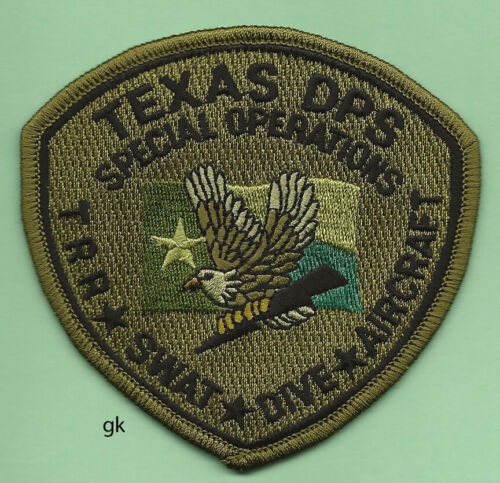 TEXAS RANGERS DPS SPECIAL OPERATIONS SWAT POLICE SHOULDER PATCH