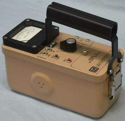 Ludlum Model 5 Geiger Counter Radiation Detector Calibration Certificate Prepper