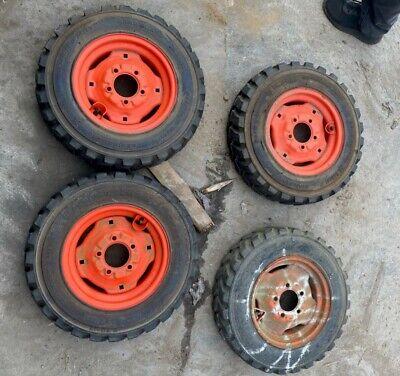 Bobcat Tire And Rims 463 Skid Steer Loader Set 23x5.70x12 4 Ply Oem Foam Air