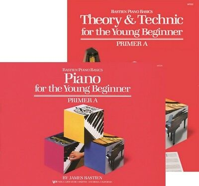 Bastien Piano for the Young Beginner plus Theory & Technic Books Primer Level A - Beginner Level