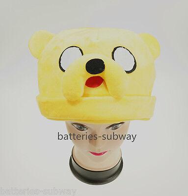 Costume  New Adventure Time Jake Soft Adult Stuffed Plush Warm Hat Cap Beanie  - Jake Adventure Time Costume