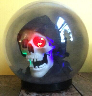 Gemmy Spirit Ball Grim Reaper Skeleton Skull Animated Talking Halloween Decor