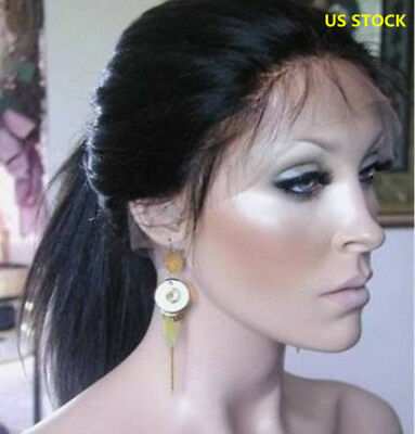 Natural Straight Wigs Lace Front wigs Pre Plucked Human Hair Full Lace Wig  ()