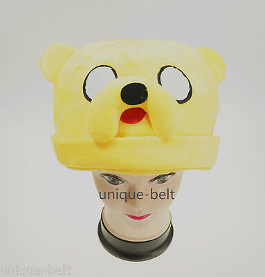 New Adventure Time with Finn and Jake Plush Adult Jake Hat Cap Beanie Costume  (Jake And Finn Costumes)
