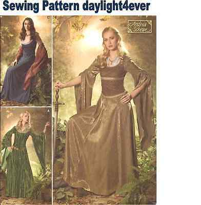 Women Medieval Dress Lord of the Rings Costume  Sewing Pattern 4940 NEW 10-18 #r
