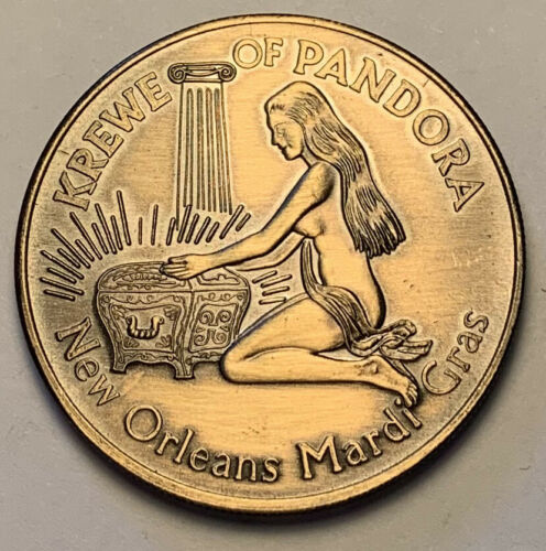 1969 KREWE OF PANDORA NEW ORLEANS MARDI GRAS DOUBLOON GEM CHOICE COIN (MR)