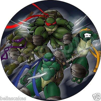 Eßbarer Tortenaufleger Teenage Mutant Ninja Turtles Tortenbild  Kuchen Zug
