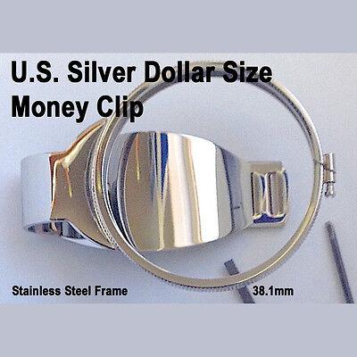 Silver Dollar Size Money Clip Stainless Coin Holder Bezel Morgan Peace Liberty Dollar Coin Money Clip