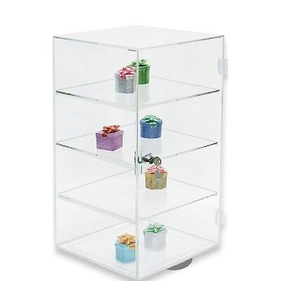 Rotating Acrylic Display Case Countertop Display Cabinet Showcase Stand19tall