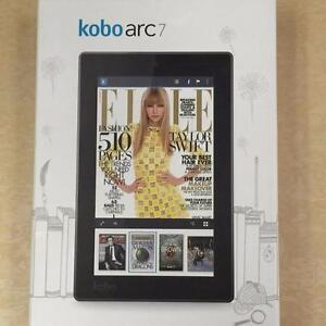 "Kobo Arc 7 Android Tablet 8 GB Micro SD 7"" W. Camera - 1.20 GHz - NEW OPEN BOX"