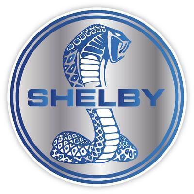 Cobra Shelby Ford Mustang Gt Racing Blue Vinyl Ebay