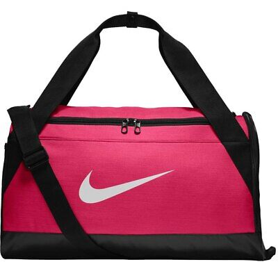 Nike Brasilia Training Duffel Bag Small Hot Pink Black White BA5335 616 Gym  Bag c152864d30ce6