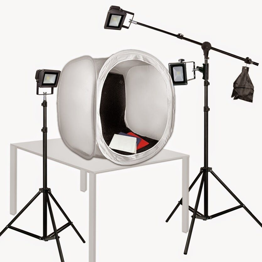 PBL Photo Tent 30in Led Photography Lights 150 Watts Stev...