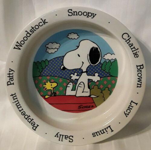1965 SNOOPY WOODSTOCK DOG BOWL JOHNSON BROS. ENGLAND VHTF