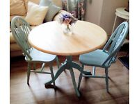 Duck Egg Blue table and 2 chairs