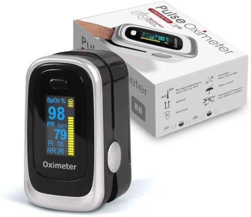 NEW Finger Pulse Oximeter SpO2 Heart Rate Meter Blood Oxygen Saturation Monitor