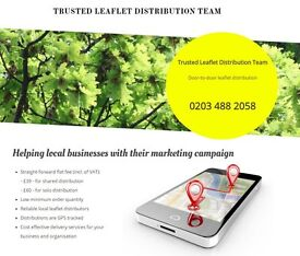 TRUSTED LEAFLETS DISTRIBUTION TEAM. DOOR TO DOOR SERVICE WITH GPS TRACKING!