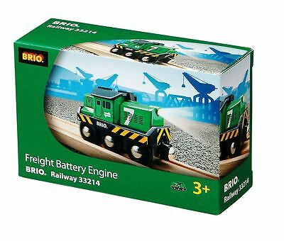 Brio Freight Battery Engine Wooden Railway Train 33214 Brio Wooden Railway