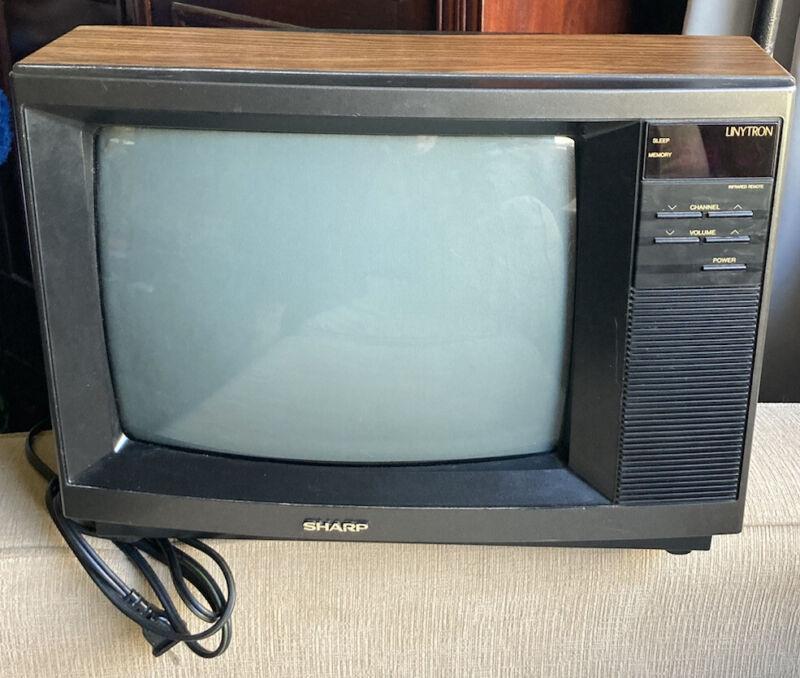 RARE Vintage CRT Sharp Linytron Color Gaming TV Woodgrain June 1991 Model 13RM59