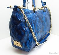 JUICY COUTURE - Genuine Blue Leather - Snake Pattern