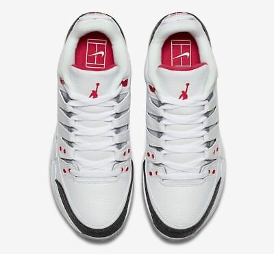 0adb41f4ddace5 NIKE ZOOM VAPOR RF x AJ3 FIRE RED AIR JORDAN 3 ROGER FEDERER SZ 8 Tennis  Shoes